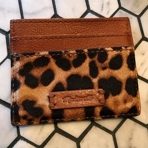 Madewell textured card holder cheetah